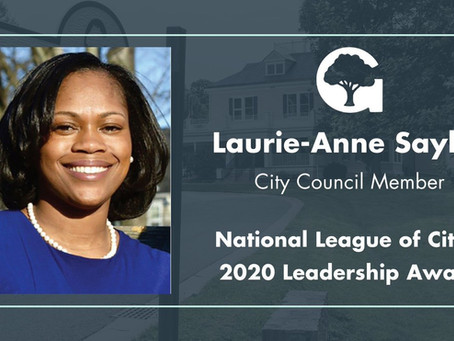 Councilwoman Sayles receives Leadership Award from National League of Cities (NLC)