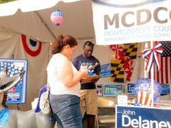 Registering voters at the Fair