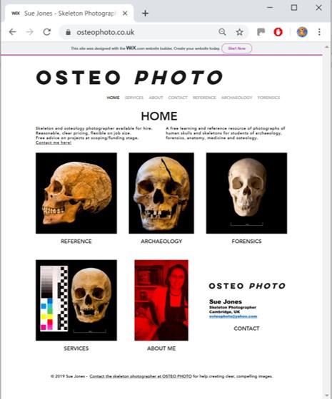 OSTEOPHOTO.co.uk website screenshot