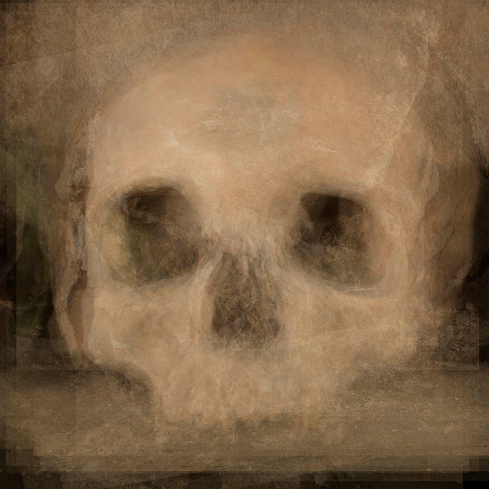 32 skulls - composite image of skulls in the Rothwell Ossuary