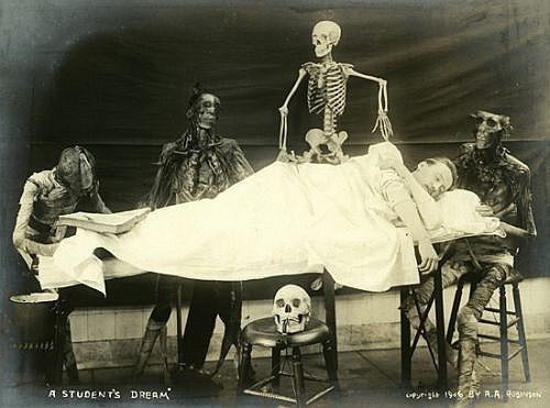 Cadaver photos for fun at turn of 19th century
