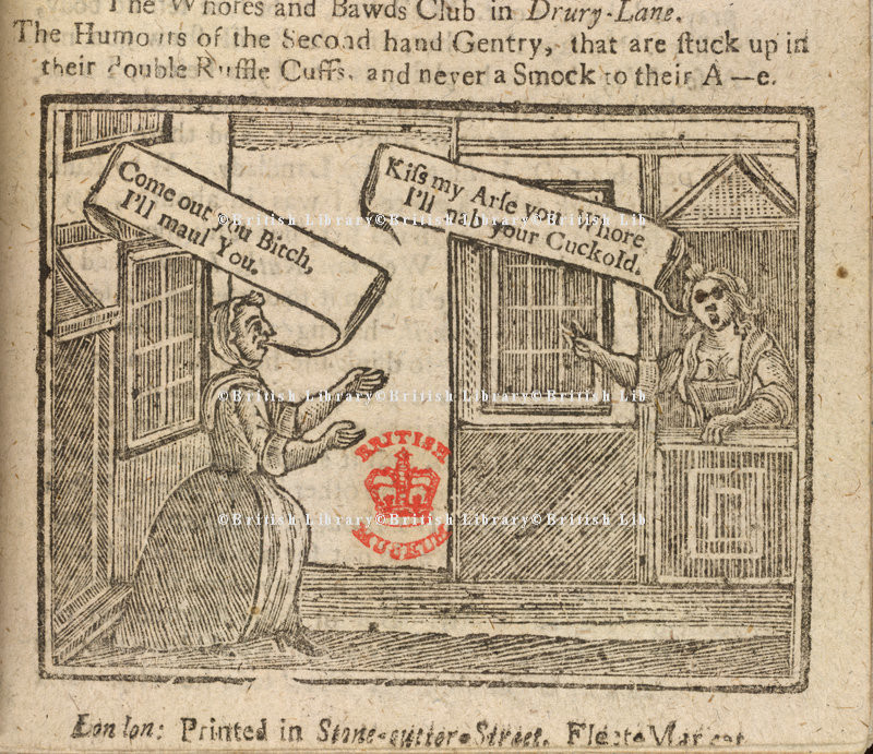 Whores and Bawds of Drury Lane - from the British Library