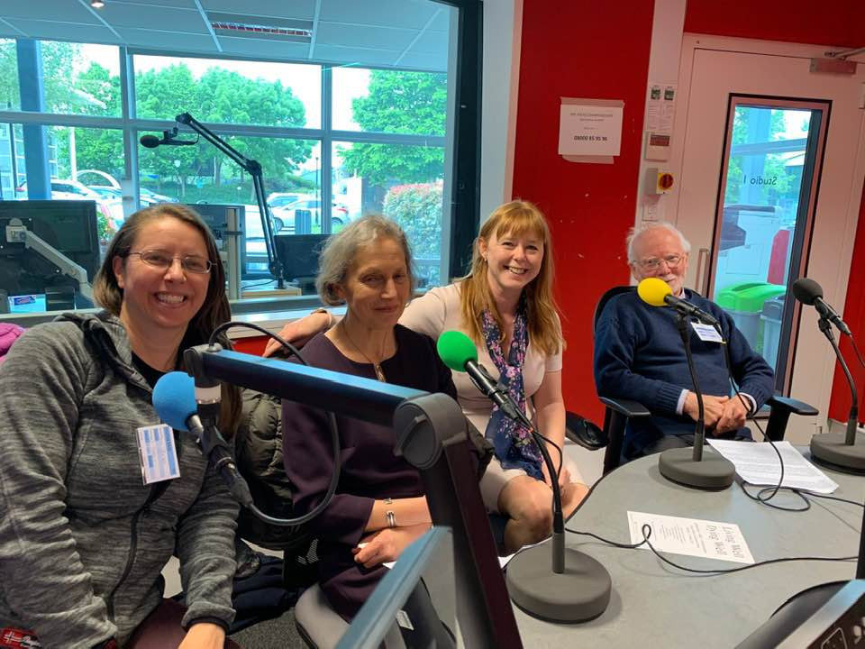 Sue Jones, Sally Fenn, Tracy O'Leary and Ian Morris in the BBC Radio Cambs studio