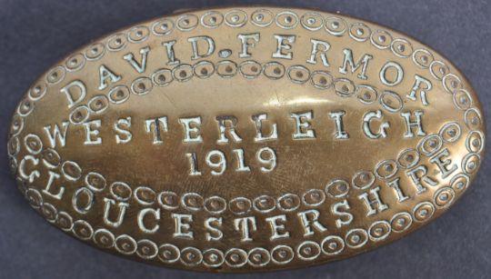 stamped metal tobacco box