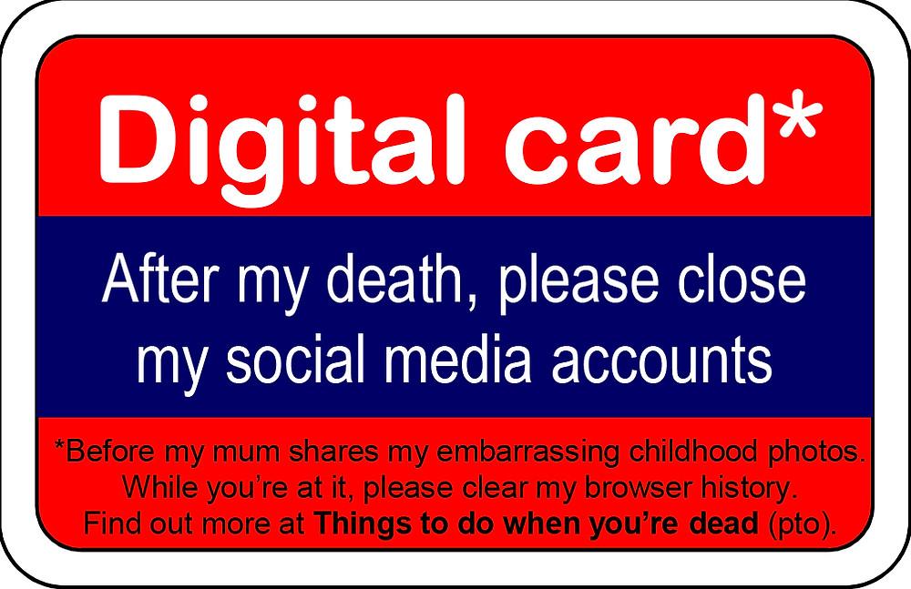 Digital donor card