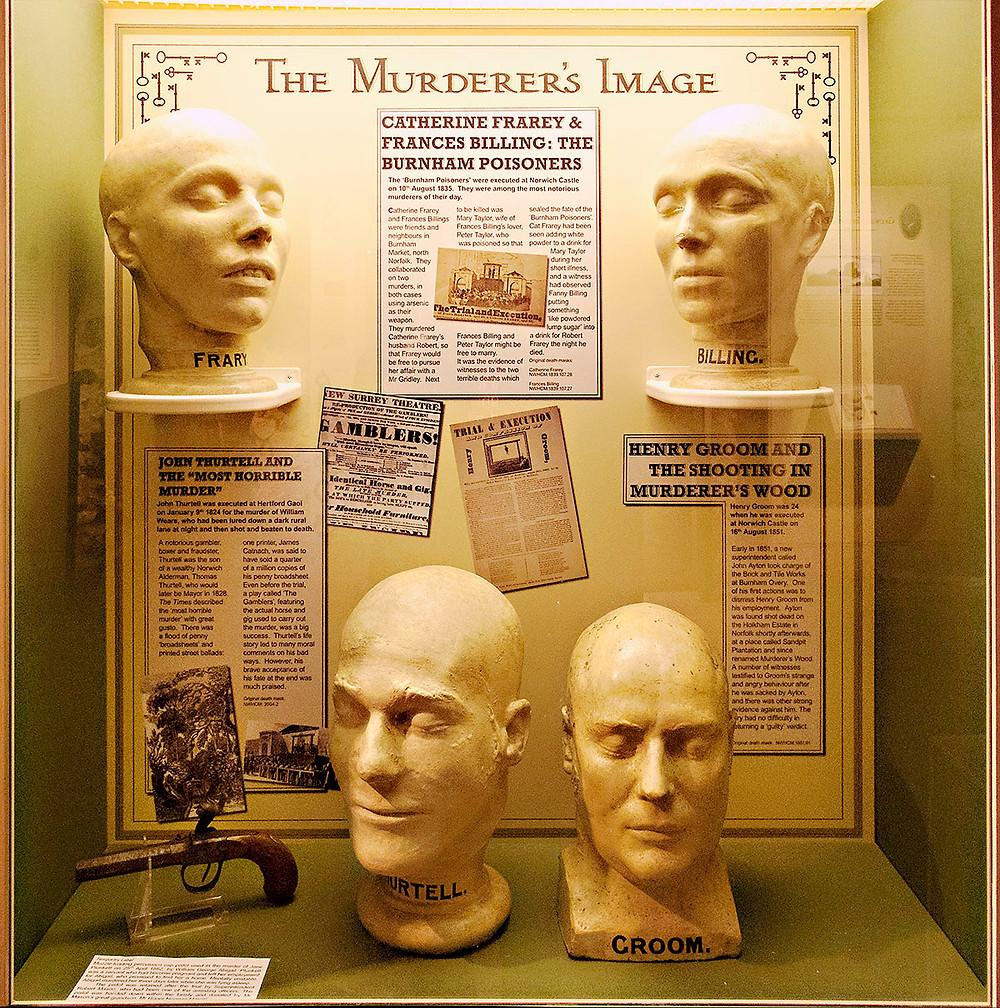 Death masks at Norwich Museum