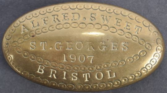 stamped tobacco box