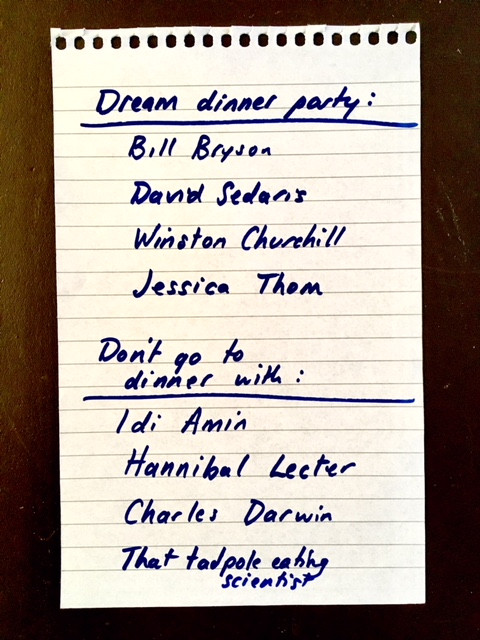 Dream dinner party list