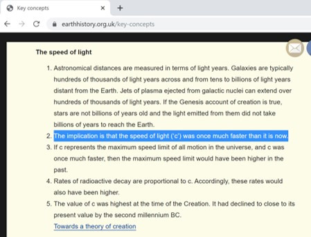 Speed of light was once much faster than it is now