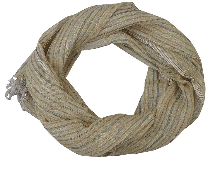 Striped Yellow Stole | Linen