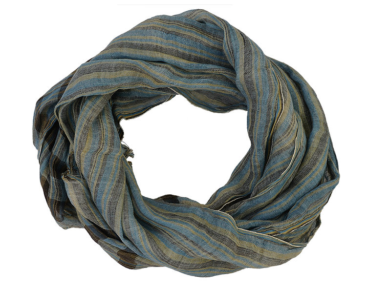 Multi Colour Striped Stole | Linen