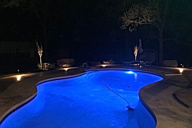 Intellitouch pool automation and landscape lighting