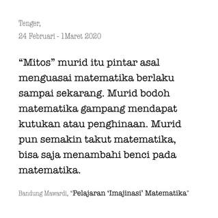 Pelajaran (Imajinasi) Matematika
