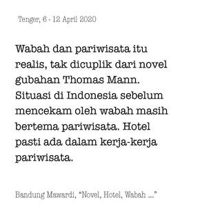 Novel, Hotel, Wabah