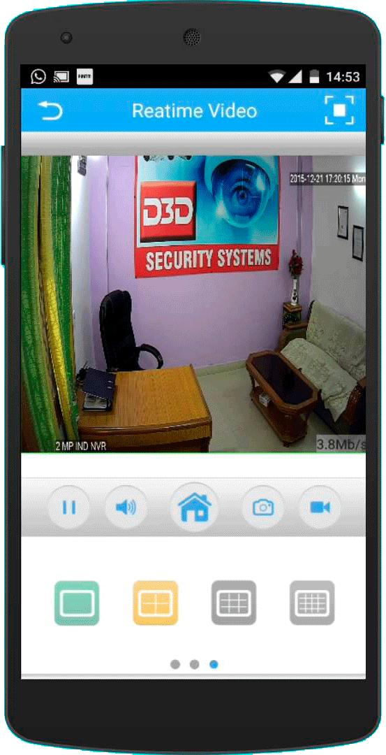 Vista cámara en móvil