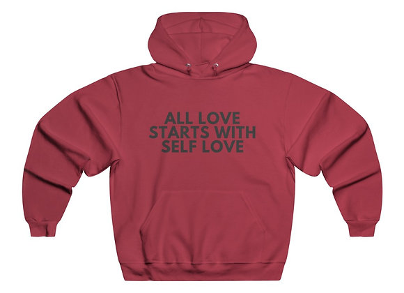 ALL LOVE STARTS WITH SELF LOVE- Men's Hoodie