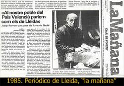 PERIÓDICO LA MAÑANA (LLEIDA). 1985