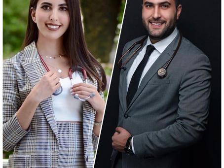 تهنئة للدكتور مكسيم القسوس والدكتورة لينا حدادين -   AMC News: Congrats Dr. Qousous and Dr. Haddadin