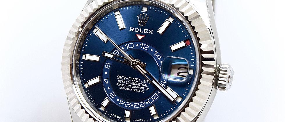Rolex Sky-Dweller 326934 Blue Steel Brand New Unworn Sep 2017