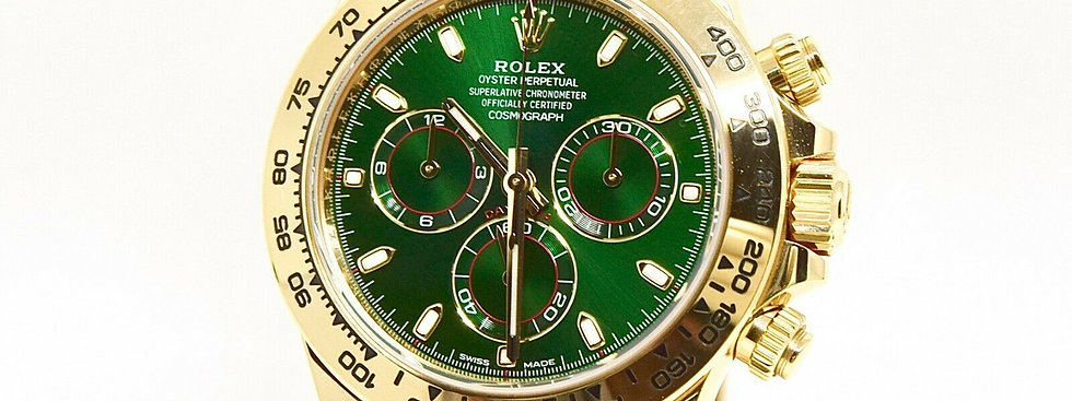 .Rolex Daytona 116508 Green Dial Box and Papers 2019