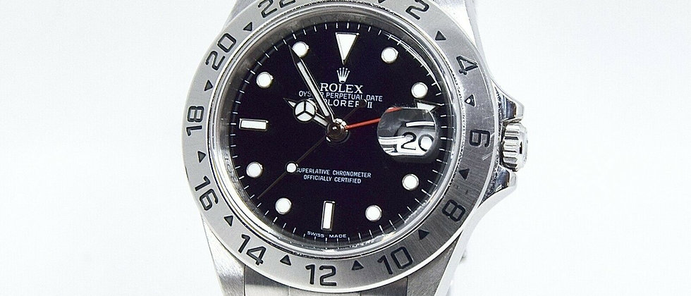 .Rolex Explorer II 16570 Box and Papers 2008 Movement 3186 Rolex Service