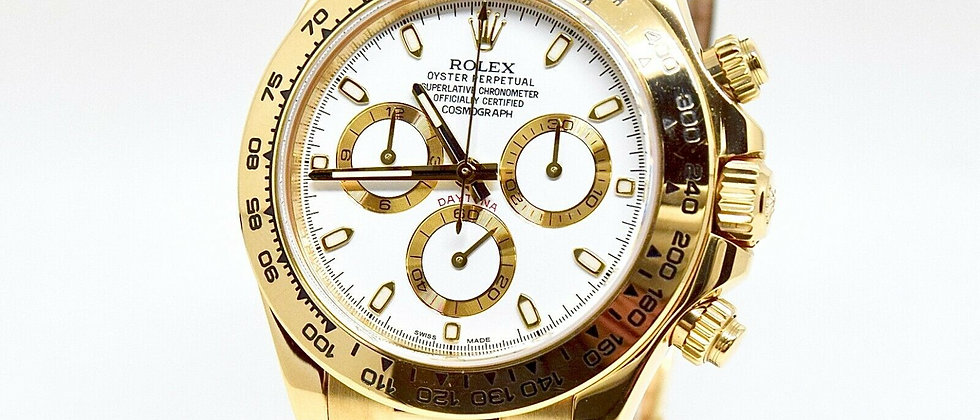.Rolex Daytona 116518 Box and Papers 2015 White Dial