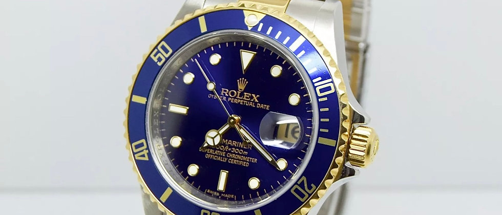 Rolex Submariner 16613T Box and Papers 2009 Rehaut