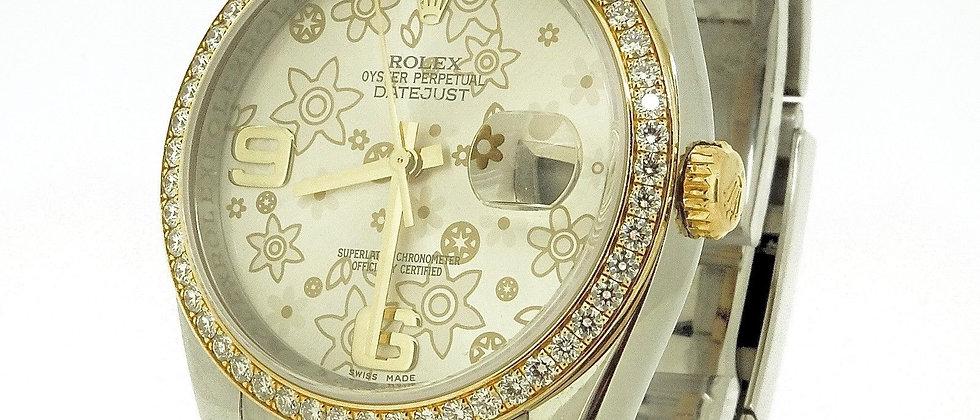 .Rolex Datejust 116243 Box and Papers Original Diamond Bezel