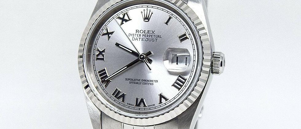 .Rolex Datejust 16234 Silver Roman Numeral Dial