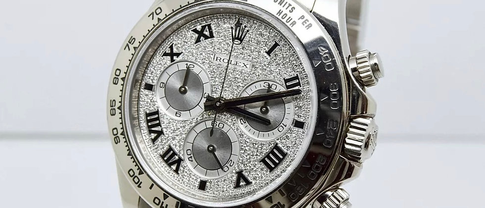 Rolex Daytona 116509 Factory Diamond Pave Dial Box and Papers 2006