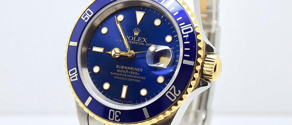 Rolex Submariner 16613 Blue Dial FULL SET