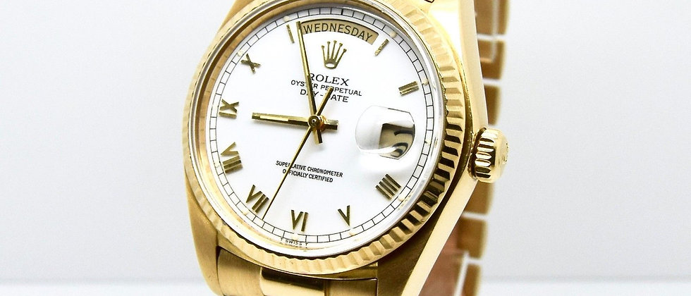 Rolex Day-Date 18038 18K Yellow Gold FULL SET