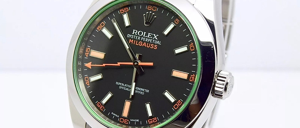 Rolex Milgauss 116400GV Box and Papers 2015