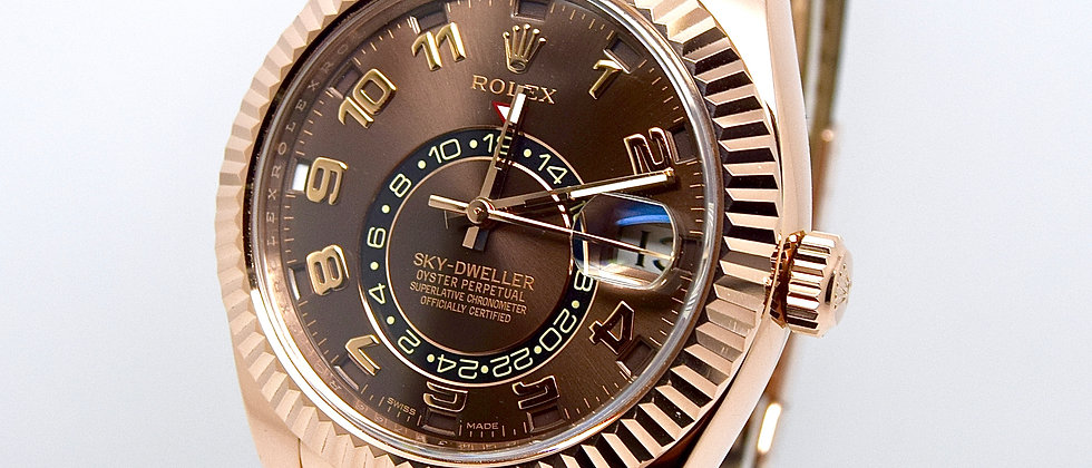 Rolex Sky-Dweller 326135 Box & Papers Full Set 18K Rose Gold