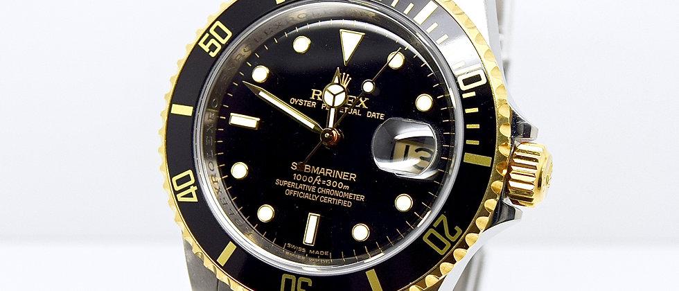 Rolex Submariner 16613 Box and Papers 2010 Rehaut