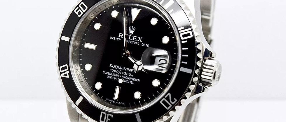 Rolex Submariner 16610 Box and Papers 2009 rehaut