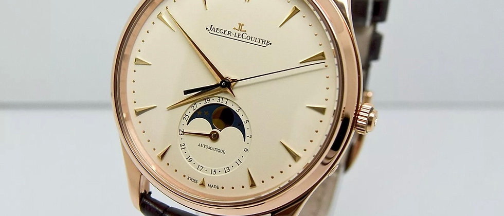 Jaeger Le Coulter Master ultra thin moon phase box and papers 2017