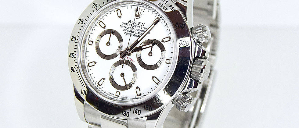 Rolex Daytona Cosmograph 116520 2016 Full Set APH White Chromalight