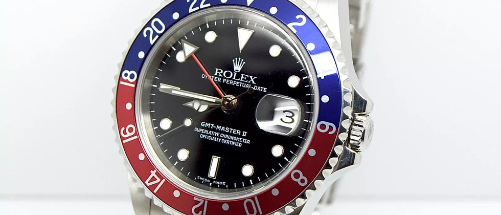 Rolex GMT Master II 16710BLRO Box and Papers 2006