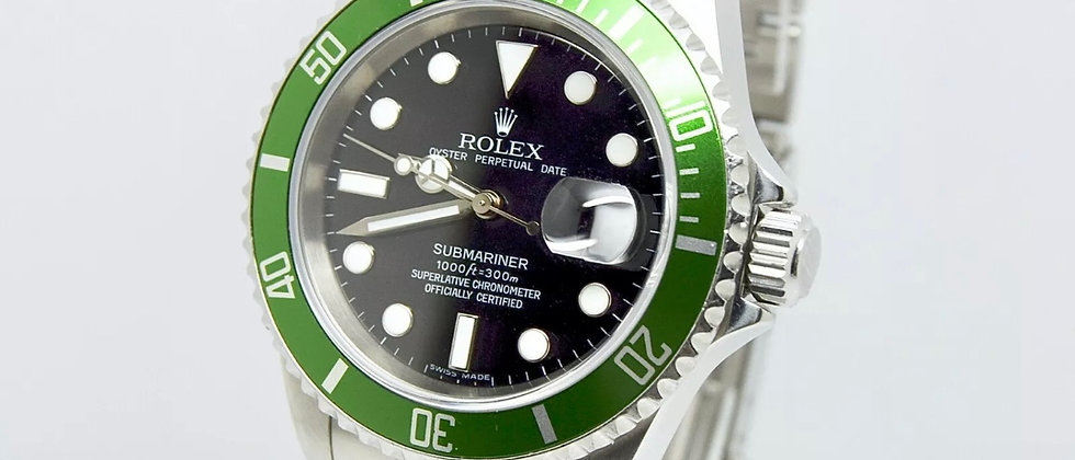 Rolex Submariner 16610LV Box and Papers 2004 F serial