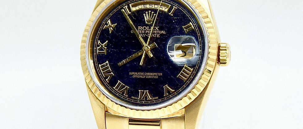 .Rolex Day Date 18238 Rare Ferrite Stone Dial Box and Papers Double Quick Set