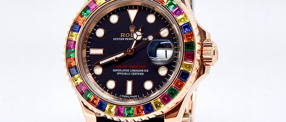 Rolex Yacht Master 116655 Box and Papers 2017 Rainbow bezel