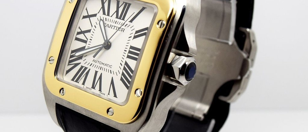 Cartier Santos 100XL 18K Gold & Steel