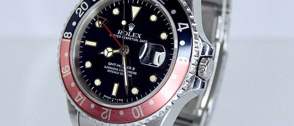 .Rolex GMT Master II 16760 Box and Papers Fat Lady
