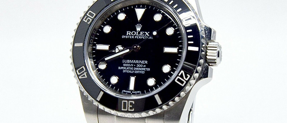 .Rolex Submariner no date 114060 box and papers 2017 40mm Discontinued