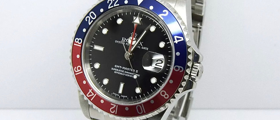 .Rolex GMT Master II 16710 Box and Papers 2005