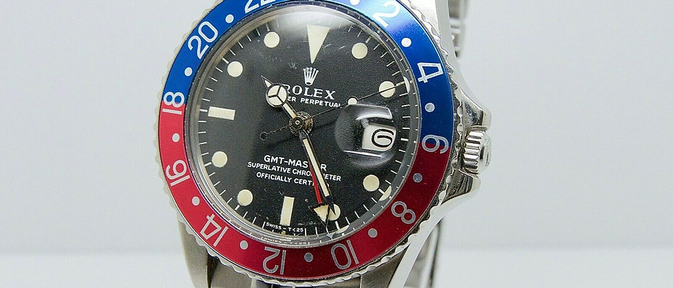 .Rolex GMT Master 1675 Long E MK1 with Box and Papers 1972 Pepsi Rare Vintage