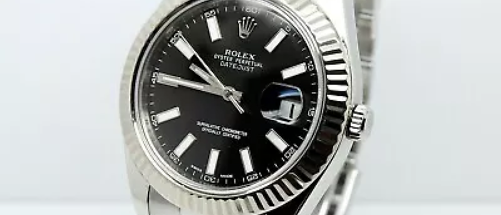 Rolex Datejust 116334 Box and Papers 2009 black dial
