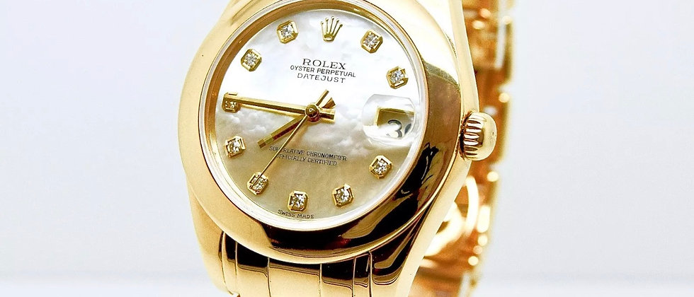 Rolex Pearlmaster 81208 Box and Papers mop diamond dial