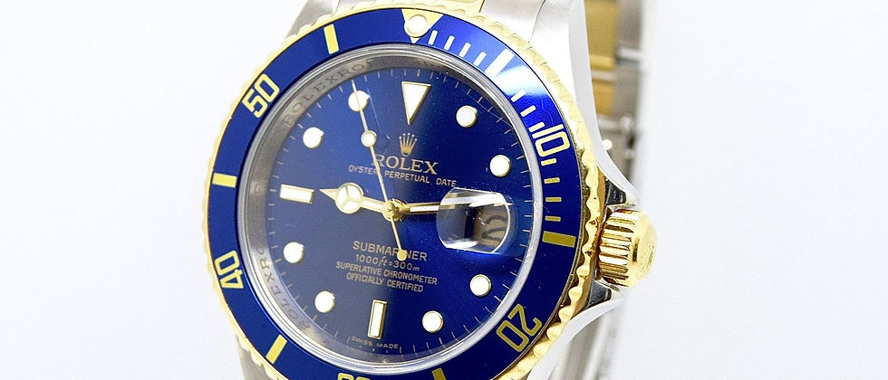 Rolex Submariner 16613 Box and Papers 2009 Rehaut